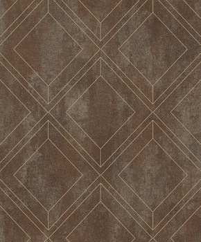 Wallpaper vintage great quality TV background Sofa wall bar cafe project hotel store decor3D flocking embossed diamond geometry фото