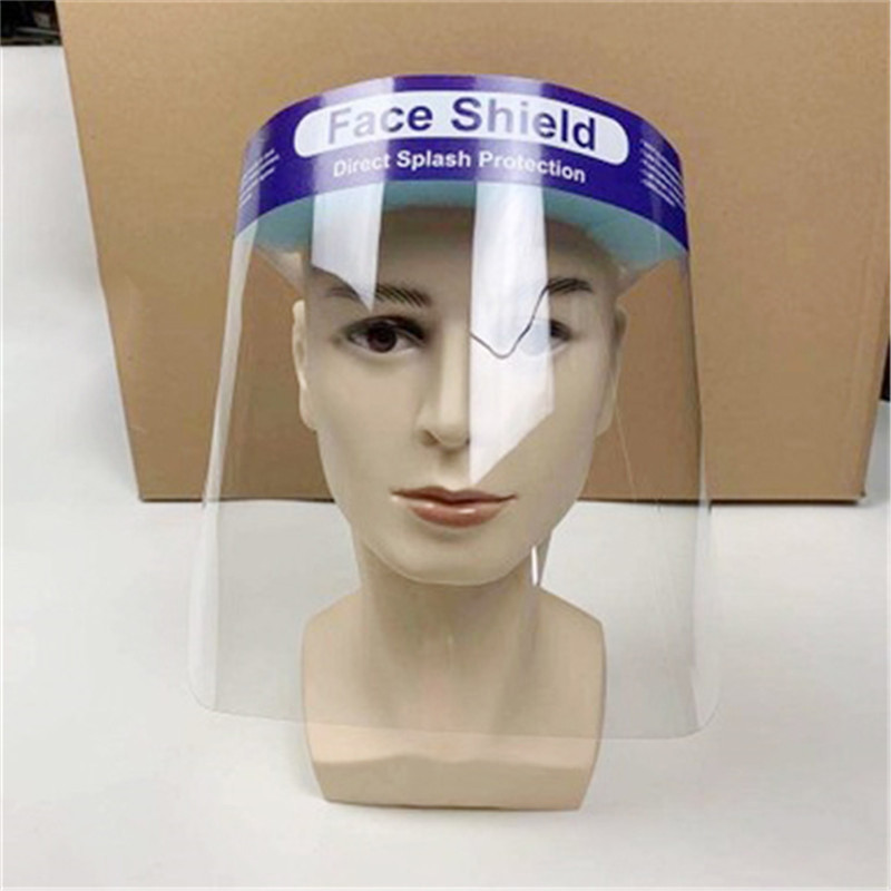 2020 Transparent Adjustable Full Face Shield Plastic Anti-fog Protective Mask Cover Flip-Up Visor Industry Guard Visor Wholesale