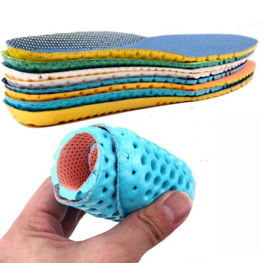 1 Pair Unisex Deodorant Shoes Insoles Orthopedic Memory Foam Sport Arch Support Insert Women Men Summer Breathable Soles Pad