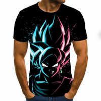 Camiseta de manga corta con estampado dragon ball z 3D para hombre y niño