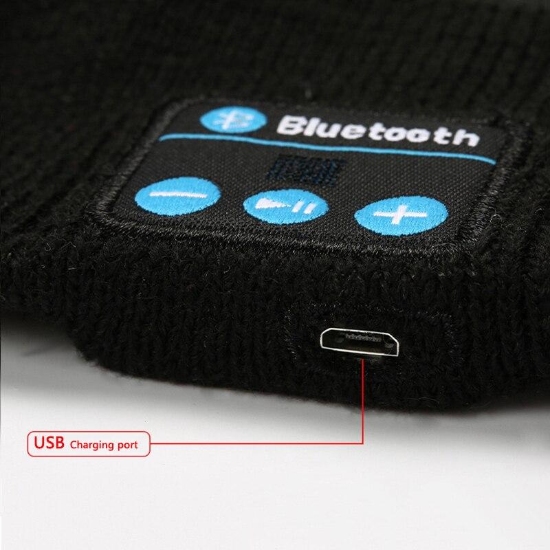 Беспроводная музыкальная повязка на голову с Bluetooth, волшебные наушники, микрофон, шапка, мужские и женские спортивные наушники с громкой связью, телефонные звонки, ответ на уши