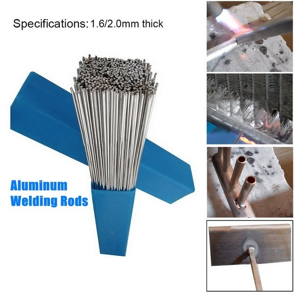 Aluminum Welding Brazing Rod 1.6/2MM Low Temperature Wire Solder Cored No Need Solder Powder Bundle Storage Box