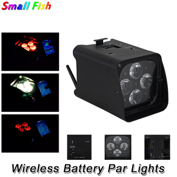 Wireless Battery Par Lights 4X10W RGBWA-UV 6IN1 LED Wash Lights DMX Par Cans Remote Control Stage Dj Lighting Shows Projector tiptop wireless battery powered portable uplights 6 6w 6in1 led par light rgbwa uv slim par can with irc for wedding decoration