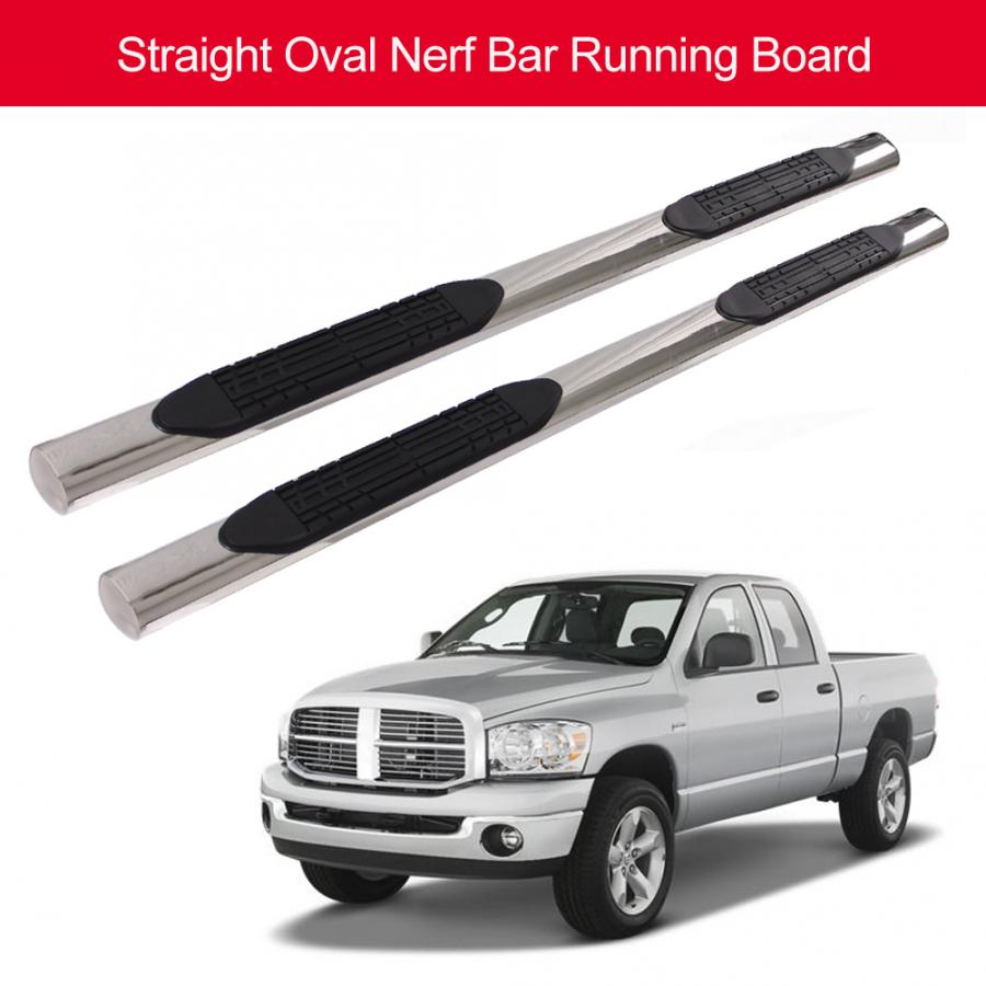 5 Inches Chrome Curved Running Board Side Step Nerf Bar Compatible with Ford F150//Super Duty Crew Cab 15-18