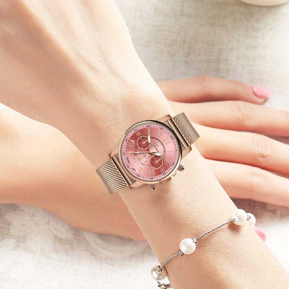 Женские часы GENEVA, повседневные кварцевые часы с силиконовым ремешком, Лидирующий бренд, женские наручные часы с браслетом, женские часы - 3