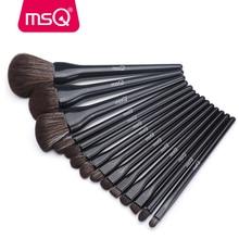 MSQ 14PCS Black Makeup Brushes Set Professional Beauty Make up brush Synthetic hair Foundation Powder Blushes Eyeshadow Brushes