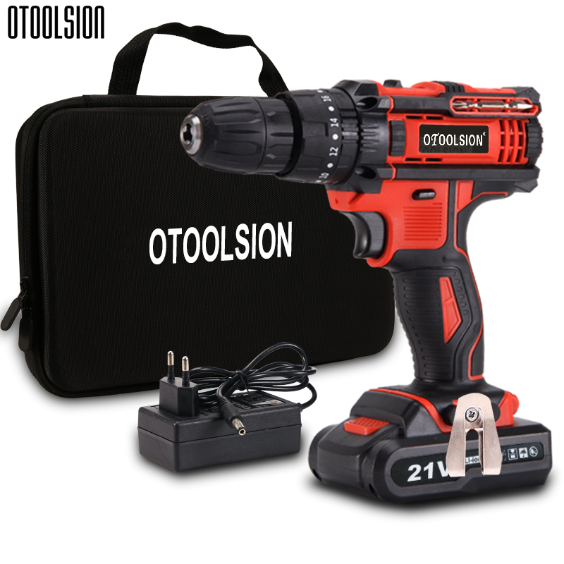 45N.m Impact Cordless Screwdriver Li-ion Battery Screwdriver 2 Speed Portable Hand Drill Mini Drill Power Tools With Drill Bits