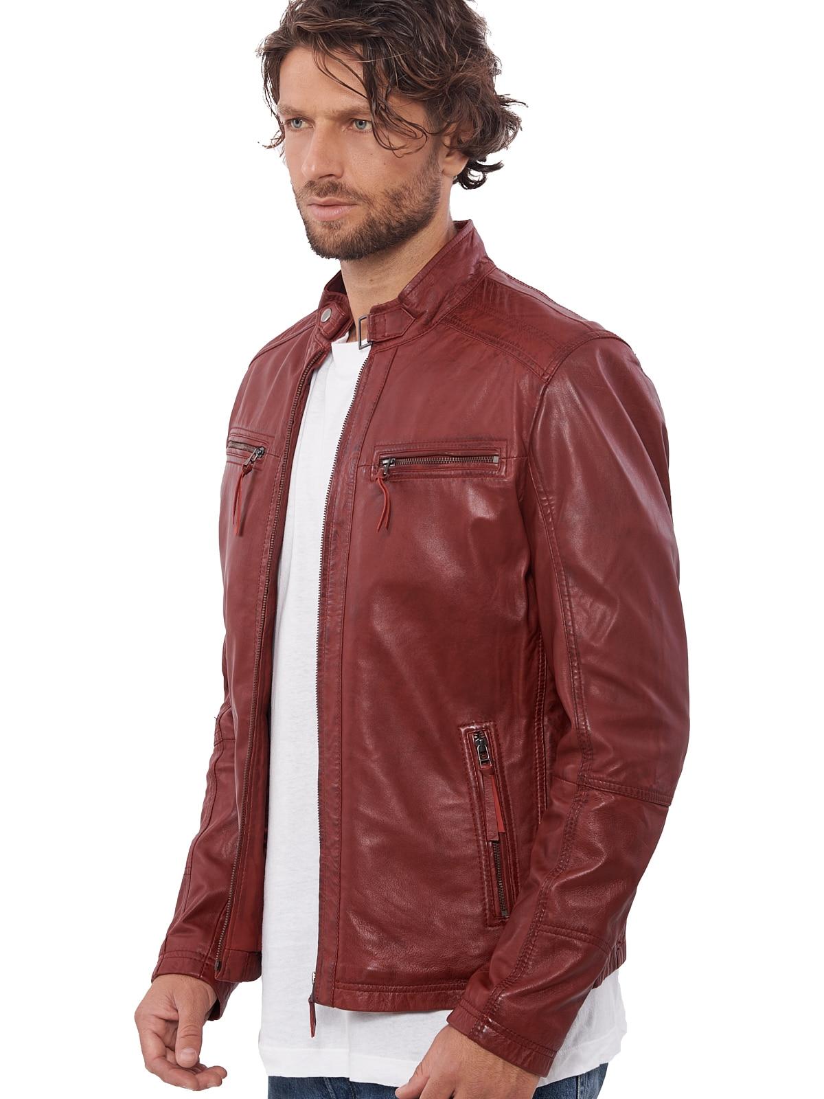 H5502005e45ed414db39bc3028b4ceb03T VAINAS European Brand Mens Genuine Leather jacket for men Winter Real sheep leather jacket Motorcycle jackets Biker jackets Alfa