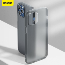 Baseus Phone Case For iPhone 12 Pro Max Transparent Phone Cover For iPhone 12 Mini Black Simple Case Ultra Thin Back Phone Cover