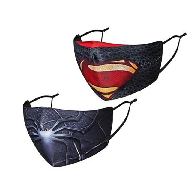 2pec Mascarilla kpop Washable Fabric Cloth Face Masks With Design Fashion Protection Mouth Masks Adult Summer Hero Cubre Boca 2