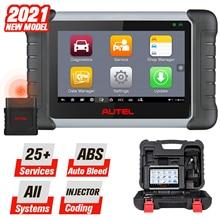 2021 Autel MaxiCOM MK808BT אבחון סריקת כלי 25 שירותי & כל מערכות אבחון, ABS לדמם, שמן איפוס, EPB, SAS, DPF