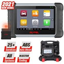 2021 Autel MaxiCOM MK808BT Diagnostic Scan Tool 25 Services & All Systems Diagnostics, ABS Bleed, Oil Reset, EPB, SAS, DPF