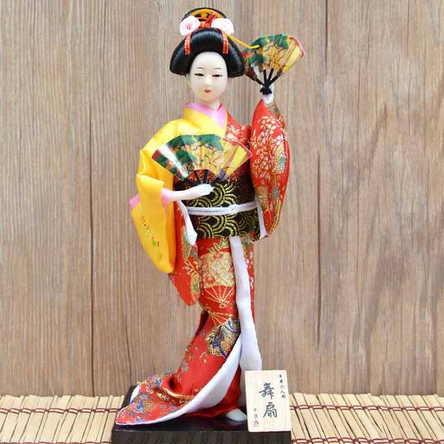 30cm Japanese Kimonos Dolls Traditional Japanese Geisha Figurines Statues Ornaments Home Restaurant Desktop Decoration Gifts 6