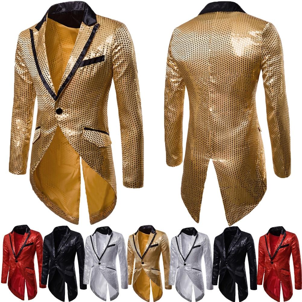Hirigin 2020 New Men's Casual Slim Fit Formal One Button Suit Blazer Coat Jacket Tops Warm Winter Mens Clothes Xmas Jackets