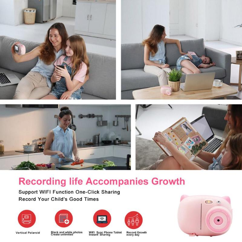P02 TFT 2.4 pouces WiFi 1080P enfants Mini mignon caméra numérique enregistreur vidéo caméscope HD CMOS 8MP capteur de pixels - 5