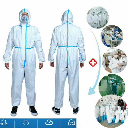 Reusable Coverall Jumpsuit Safety Clothing Surgical Medical Protective Overall White Protective Clothing