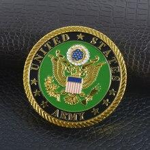 Estados unidos corps moeda comemorativa eua exército militar arte lembrança grande presente colecionável moeda de metal físico