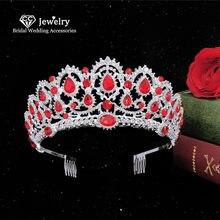 Cc crown mulheres tiara nupcial hairband acessórios para o cabelo do casamento noiva cristal gota de água forma festa headwear hg0266