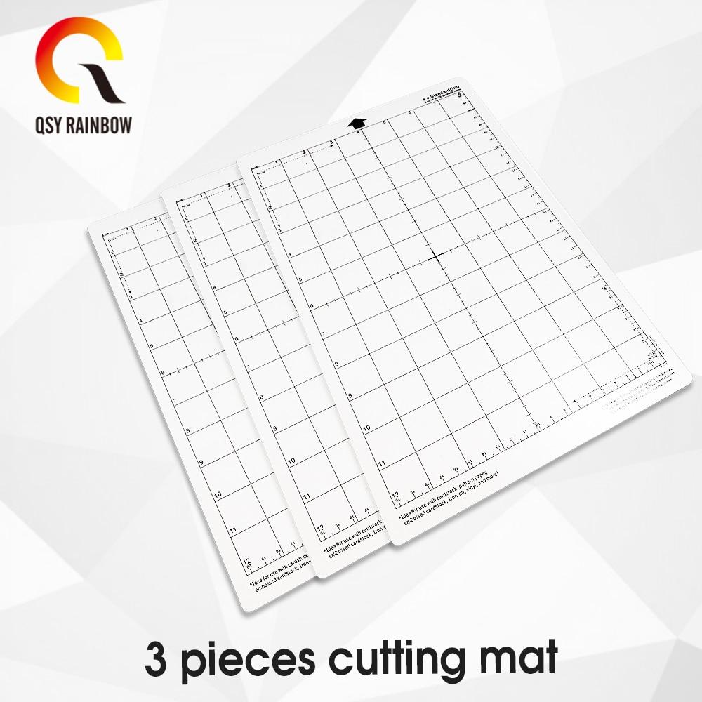 Cutting Mat For [Standardgrip,8x12 Inch,3pcs] Cricut Explore One/Air/Air 2/Maker Adhesive&Sticky Non-slip Flexible Gridded Mats