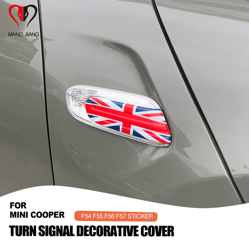 cheapest Union Jack Car Sticker Turn Signal Fender Decoration Cover Case for Mini Cooper Clubman F54 F55 F56 F57 Car-styling Accessories