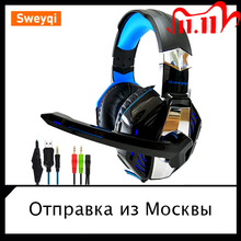 headphone Sweyqi /Gaming Headphones  headphones with microphone Earphone Microphone with backlit /for PC PS4  Laptop phone