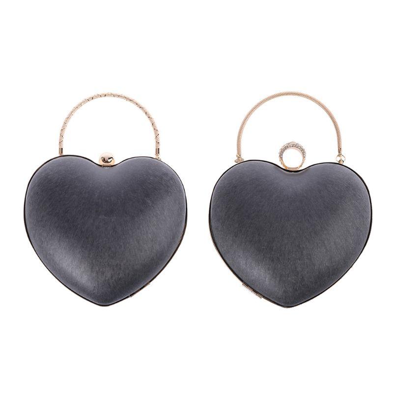 1 Pc Heart Shape Metal Round Box Purse Frame Handles For DIY Craft Replacement Handbag Evening Bag Parts Accessories