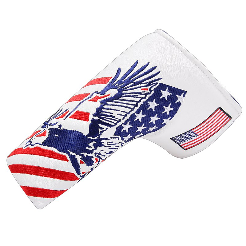 USA America Mallet Putter Cover Fit Odyssey #7 Putter Titleist Scotty Cameron (Blade Putter Cover (Eagle))