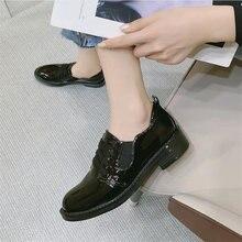 Туфли лодочки из лакированной кожи; Женская повседневная обувь