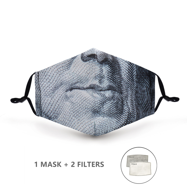 Variation #59 of fashion reusable protective pm2.5 filter printing mouth mask anti dust face mask windproof mouth-muffle bacteria proof flu mask
