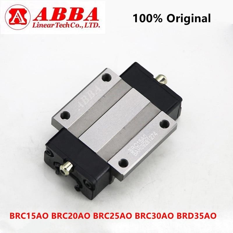 Original Taiwan ABBA Flange Linear Block BRH15A BRC15AO BRH20A BRC20AO BRH25A BRC25AO BRH30A BRC30AO BRH35A BRD35AO Slider CNC