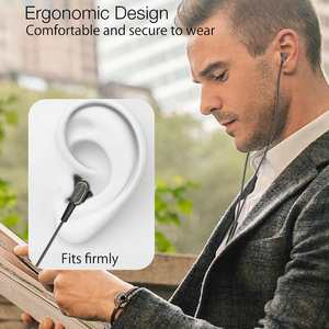 Image 2 - BlitzWolf Wired Earphone With Mic In ear Earphone 3.5mm Earphones With Microphone For Phone Stereo Earbuds For iPhone Smartphone