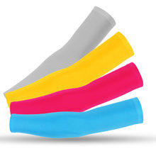 1 Pair Breathable Quick Dry UV Protection Running Arm Sleeves Basketball Elbow Pad Fitness Armguards Sports Cycling Arm Warmers
