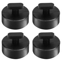 4 PCS Car Jack Support Block Rubber Pad Solid Adapter Rubber Jack Pad Rubber Pad for Chevrolet Corvette C5 C6 C7