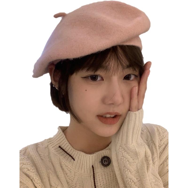 New Auutmn Winter Hats Women Solid Plain Octagonal Newsboy Cap Ladies Casual Wool Hat Warm Beret Womens Painter Caps Fisherman 6
