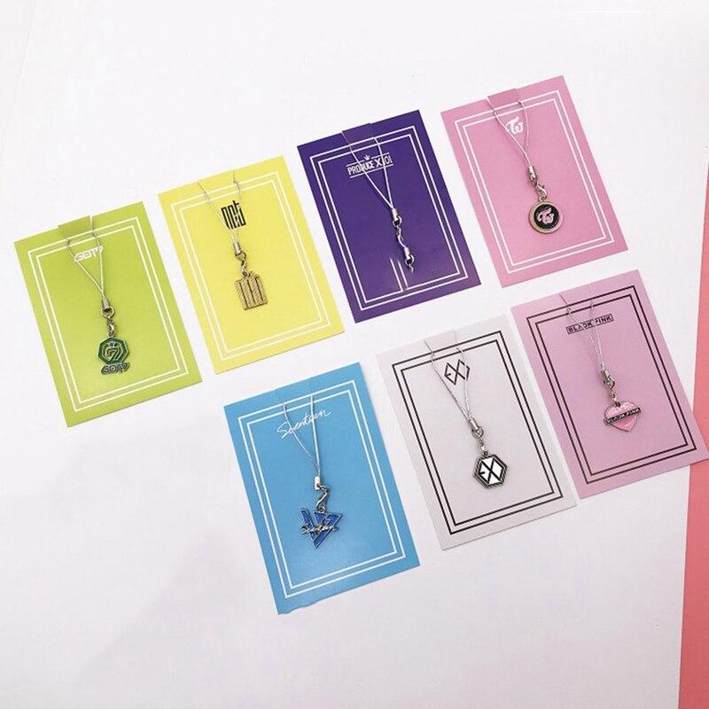 1 шт. KPOP BLACKPINK EXO TWICE SEVENTEEN NCT ProduceX101 ремешок для телефона на шею ремешки для брелок для телефона