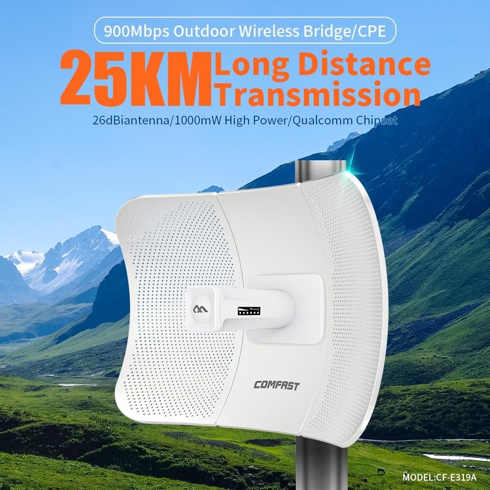 Da longa distância 25km 900mbps transmissão ao
