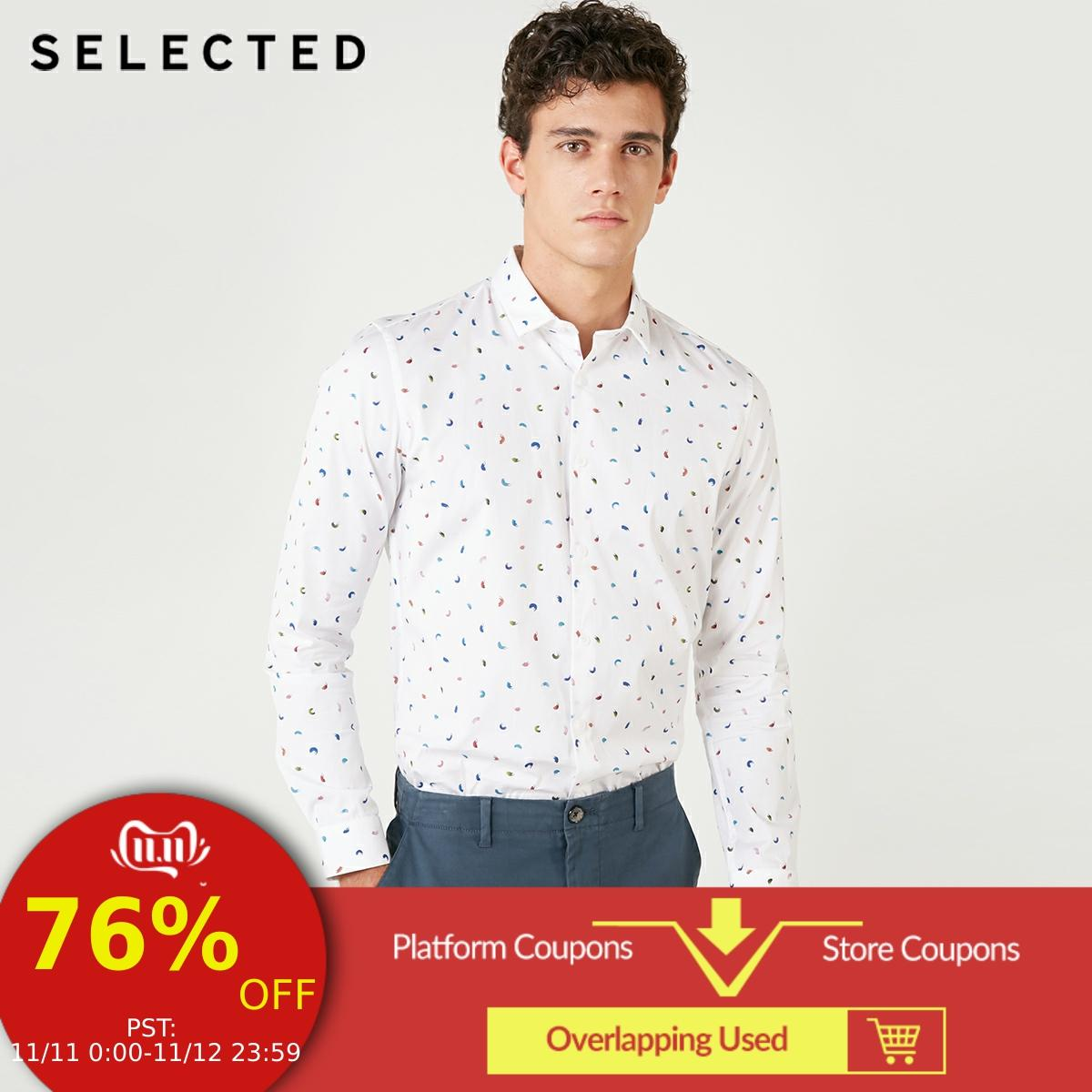 SELECTED <font><b>Men's</b></font> Slim Fit 100% Cotton <font><b>Shirt</b></font> S|418405522 image