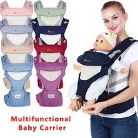 Ergonomia respirável Portador de Bebê Hipseat Transportadora Canguru Bebê Mochila Para Carring Portátil Crianças Envoltório Estilingue Infantil