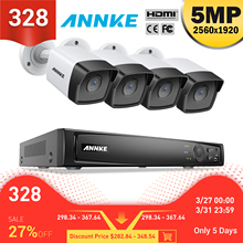 ANNKE 8CH FHD 5MP POE Network Video Security System 8MP H.265+ NVR With 4X 5MP 30m Color Night Vision Waterproof WIFI IP Camera