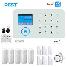 PGST PG103 Wifi GSM Alarm sistemi kablosuz hırsız ev güvenlik sistemi RFID kart hareket sensörü ile APP uzaktan kumanda