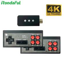 2 em 1 mini 4k console de jogos de vídeo retro jogador de jogos handheld controlador sem fio embutido 568 consolas de jogos clássicos