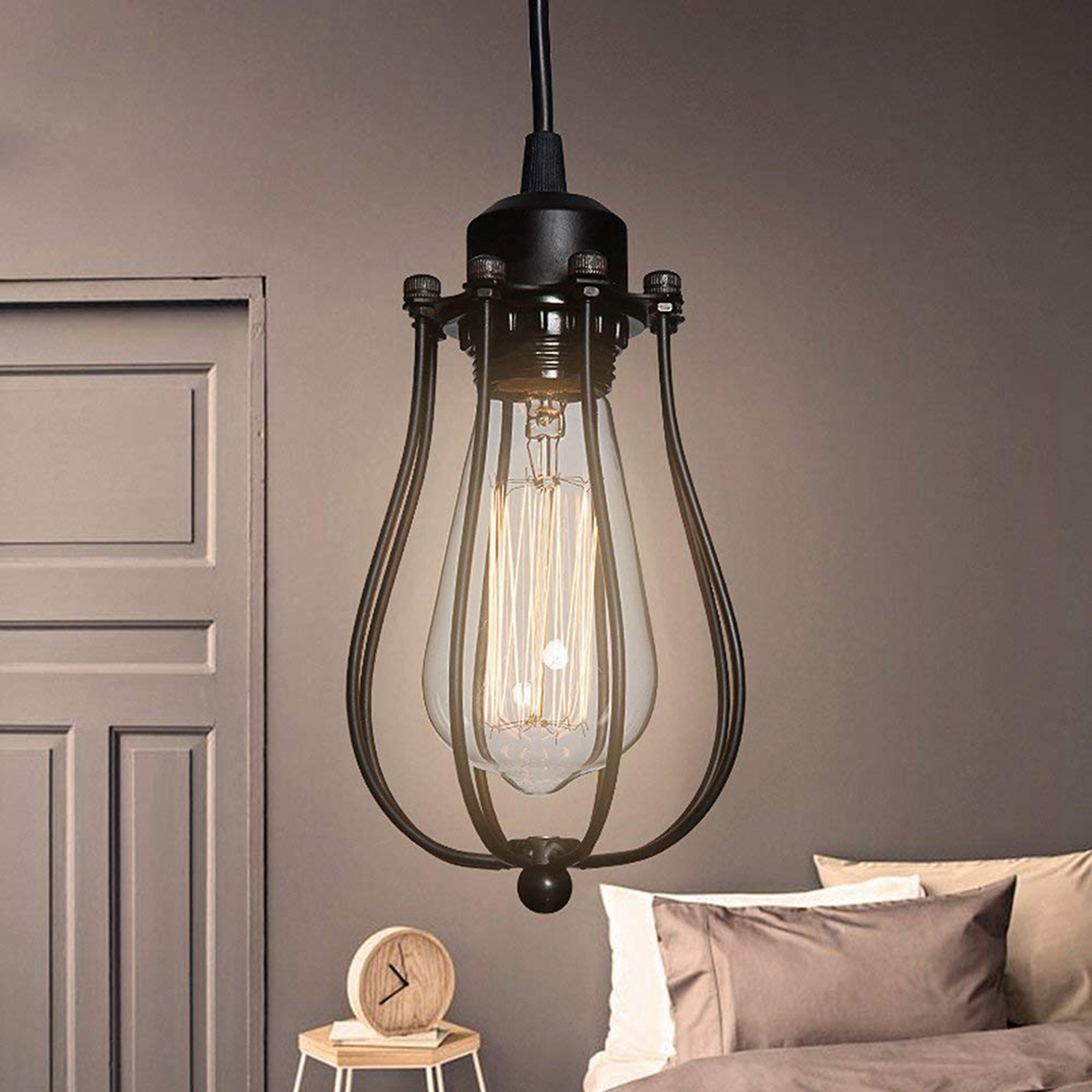 teto, pingente e lâmpada do vintage tons