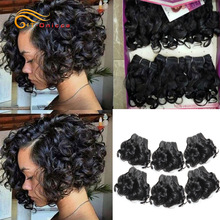 99J Hair-Extension Curl Curly-Bundles Funmi Hair Remy Htonicca Colored Jerry Double-Drawn