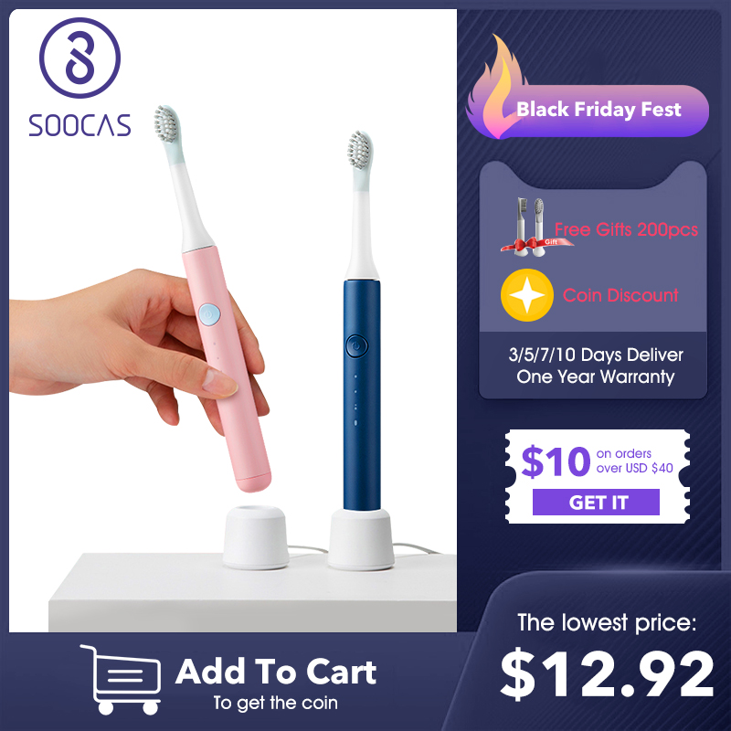 SOOCAS SO WHITE PINJING EX3 Sonic Electric Toothbrush Ultrasonic Automatic Smart Tooth Brush Wireless Rechargeable Waterproof|Electric Toothbrushes| - AliExpress