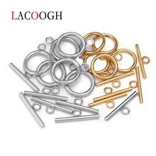 4 conjuntos de fecho de aço inoxidável, dia 13/14/15/16/18mm fecho de alternância conectores de fivela para pulseira colar, fabricação de joias diy