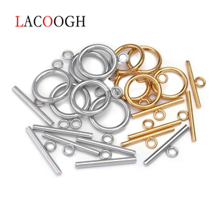4sets Out dia 13/14/15/16/18mm Stainless Steel OT Clasp Toggle Clasps Buckle Connectors For Bracelet Necklace DIY Jewelry Making