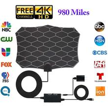 Newest High Quality 980 Miles TV Antenna Digital HD Indoor 4K Life Local Channels Amplifier Signal Booster