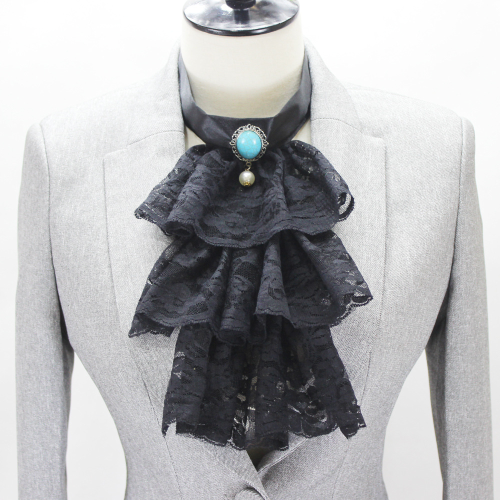 Court Wind Tie Victoria Decoration Lead Around Dickie Fake Collar Detachable Necklace Shirt Women