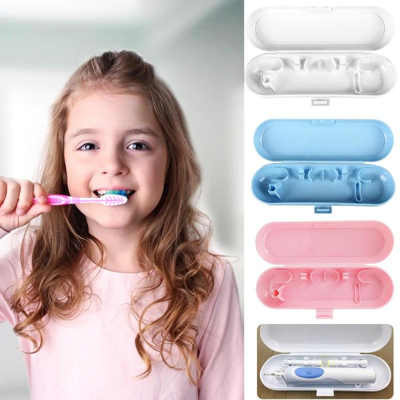 Portable Electric Toothbrush Holder Travel Tooth Brush Storage Box Case Suitable For All Round Head Toothbrushes image