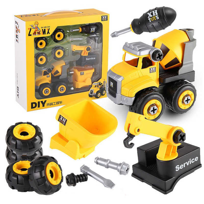 Nut Disassembly Loading Unloading Engineering Truck Excavator Bulldozer Child Screw Boy Creative Tool Education Toy Car Model